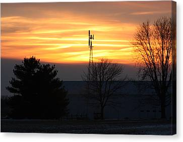 Indiana Sunset Canvas Print by Bruce McEntyre