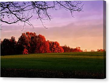 Indiana Sunset Canvas Print by Diane Merkle