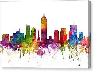 Indianapolis Cityscape 06 Canvas Print