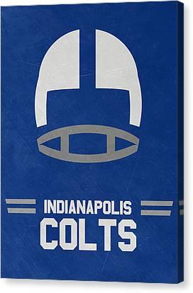 Indianapolis Colts Vintage Art Canvas Print by Joe Hamilton