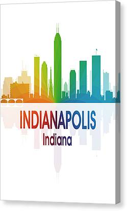 Indianapolis In 1 Vertical Canvas Print by Angelina Vick