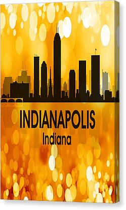 Indianapolis In 3 Vertical Canvas Print by Angelina Vick