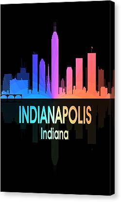 Indianapolis In 5 Vertical Canvas Print by Angelina Vick