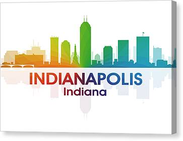 Indianapolis In Canvas Print by Angelina Vick