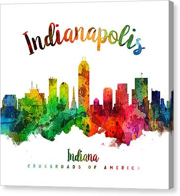 Indianapolis Indiana 24 Canvas Print by Aged Pixel
