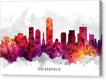 Indianapolis Indiana Cityscape 14 Canvas Print