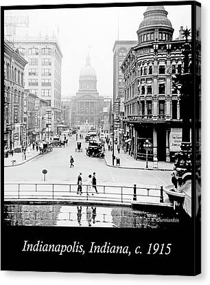 Indianapolis, Indiana, Downtown Area, C. 1915, Vintage Photograp Canvas Print
