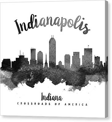 Indianapolis Indiana Skyline 18 Canvas Print by Aged Pixel
