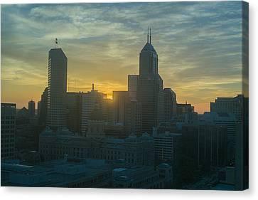 Indianapolis Indiana Skyline 19fa Canvas Print by David Haskett