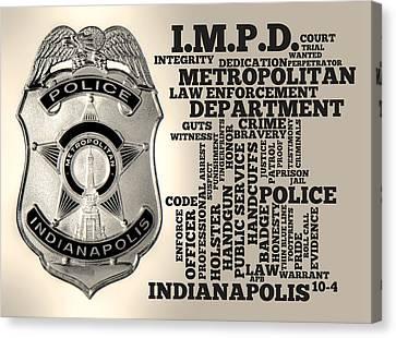 Indianapolis Metropolitan Police Department Silver Canvas Print by Dave Lee