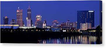 Indianapolis Panorama Canvas Print by Frozen in Time Fine Art Photography