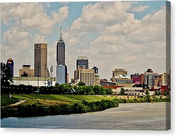 Indiana Landscapes Canvas Print - Indianapolis Skyline 25 by David Haskett