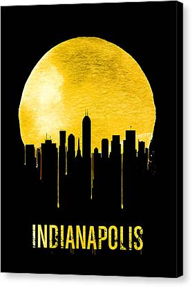 Indianapolis Skyline Yellow Canvas Print by Naxart Studio