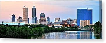 Indianapolis Wide Angle Canvas Print
