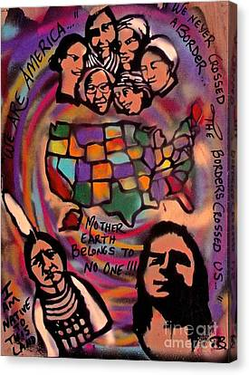 Indigenous America 101 Canvas Print by Tony B Conscious