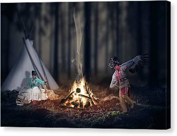 Rooted Canvas Print - Indigenous Peoples Of The Americas by Aged Pixel