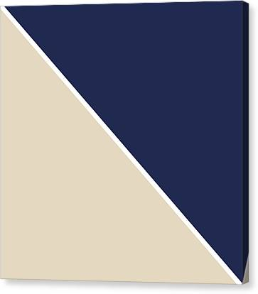 Indigo And Sand Geometric Canvas Print