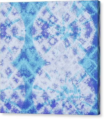 Indigo And Teal Canvas Print by Colleen Taylor
