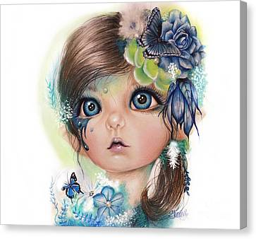 Canvas Print featuring the mixed media Indigo - Butterfly Keeper - Munchkinz By Sheena Pike  by Sheena Pike
