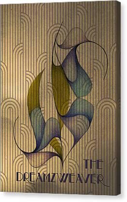 Indigo Inspired Deco Rose Canvas Print