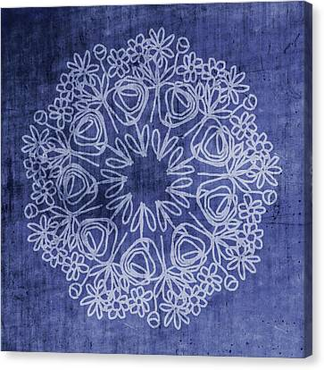Indigo Mandala 1- Art By Linda Woods Canvas Print