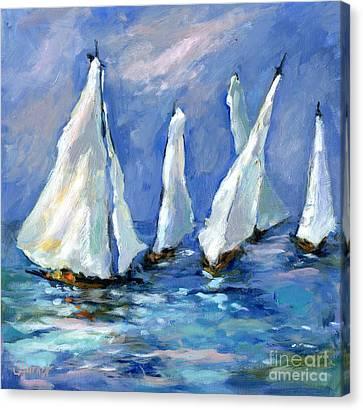 Indigo Seas Canvas Print by Sharon Furner