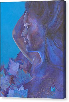 Canvas Print featuring the painting Indigo Serene by Ragen Mendenhall