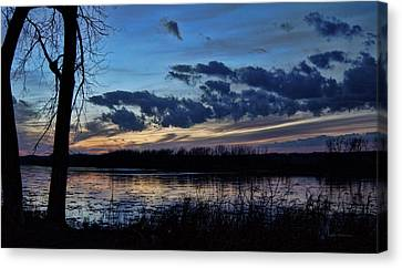 Canvas Print featuring the photograph Indigo Skies by Cricket Hackmann