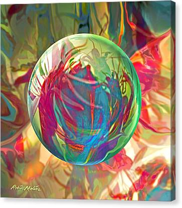 Canvas Print featuring the painting Indigofera Tinctorbia by Robin Moline
