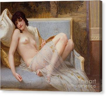 Cushion Canvas Print - Indolence by Guillaume Seignac