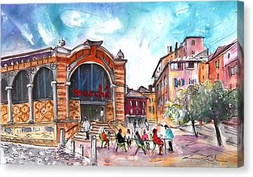 Indoor Market In Albi Canvas Print by Miki De Goodaboom