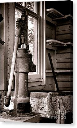 Old Windows Canvas Print - Indoor Plumbing by Olivier Le Queinec