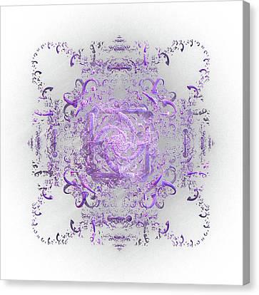Indulgent Purple Lace Canvas Print by Rosalie Scanlon