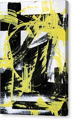 Industrial Abstract Painting II Canvas Print by Christina Rollo