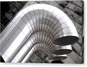 Industrial Air Ducts Canvas Print by Henri Irizarri