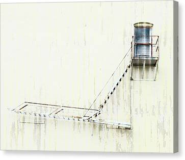 Fire Escape Canvas Print - Industrial Art Fire Escape by Carol Leigh