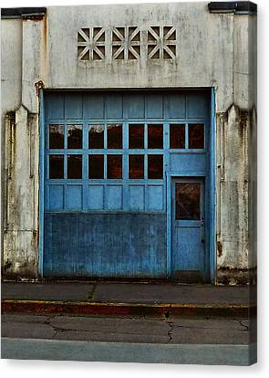 Industrial Blue Canvas Print