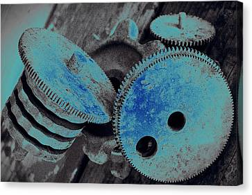 Industrial Blues Canvas Print by Marnie Patchett