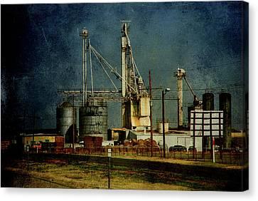 Amarillo Texas Canvas Print - Industrial Farming In Texas by Susanne Van Hulst