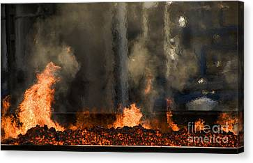 Industrial Fire Canvas Print by Sick Michael
