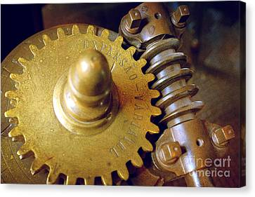 Industrial Background Canvas Print - Industrial Gear by Carlos Caetano