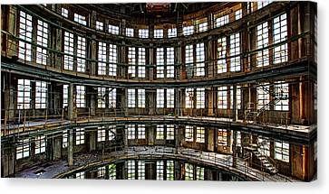 Canvas Print featuring the photograph Industrial Heritage - Urban Exploration by Dirk Ercken