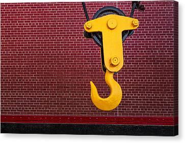 Industrial Hook Canvas Print by Susan Candelario