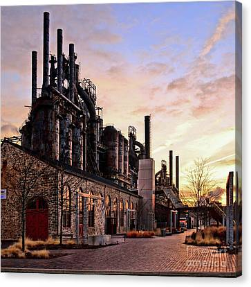 Canvas Print featuring the photograph Industrial Landmark by DJ Florek