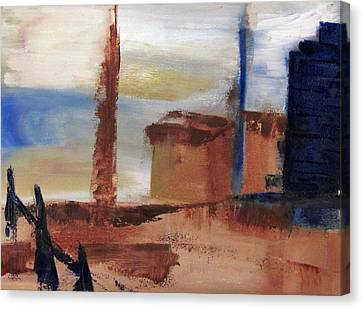 Canvas Print featuring the painting Industrial by Patricia Cleasby