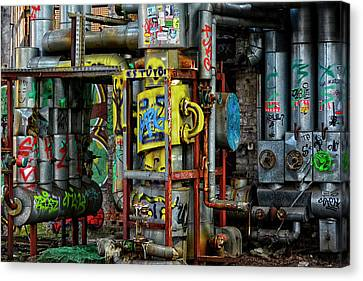 Industrial Steampunk Canvas Print by Joachim G Pinkawa