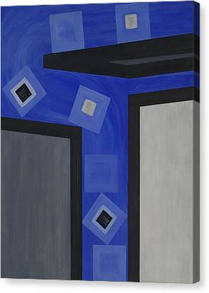 Industry 1 Blue Collar Canvas Print by Sandy Bostelman