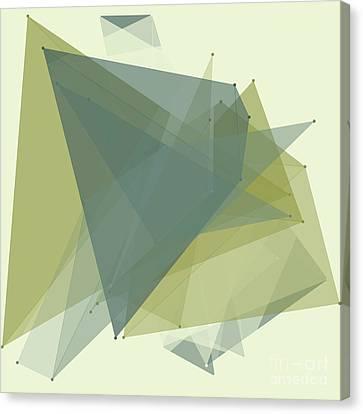 Vector Canvas Print - Industry Polygon Pattern by Frank Ramspott