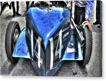 Indy 500 Winning Car Abstract  Canvas Print by Josh Williams
