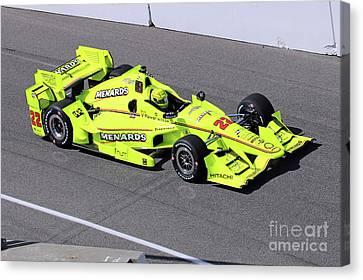 Indy Car Simon Pagenaud Canvas Print by Steve Gass